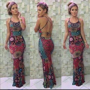 BRAZILIAN Mermaid Mandala Maxi Dress